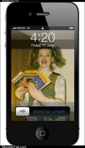 Mobile phone texting autocorrect  I Lerv My iPhern