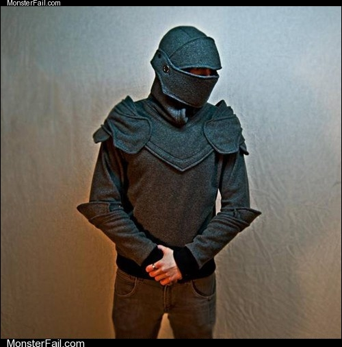 Fashion fail Poorly Dressed Dressed to WIN Your Knight in Hoodie Armor