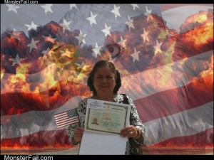 Photoshopping a US Citizenship Celebration