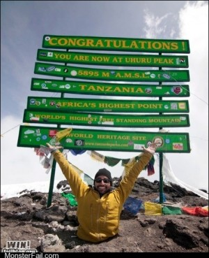 Monster win photos WIN Completely Relevant News Climbing Kilimanjaro With Your Hands