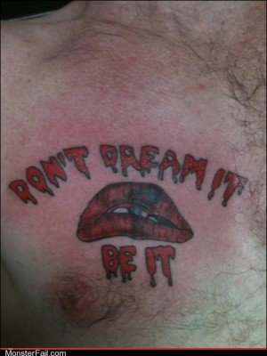 Funny tattoos Ugliest Tattoos Dammit Janet This Tattoo Sucks