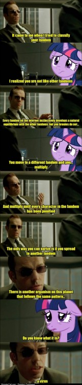 Agent Smith has something to say