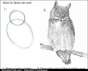 How to draw a fucking owl