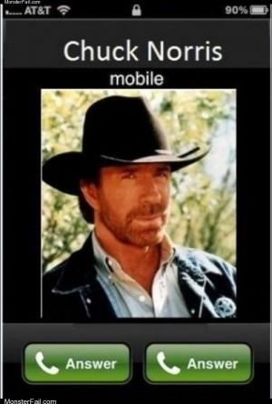 Chuck norris is calling