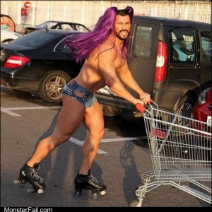 Fashion fail Poorly Dressed Even Beefcakes Need to Shop For Groceries