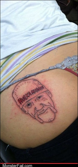 Funny tattoos Ugliest Tattoos Hulkamania Is That We Call Insanity These Days
