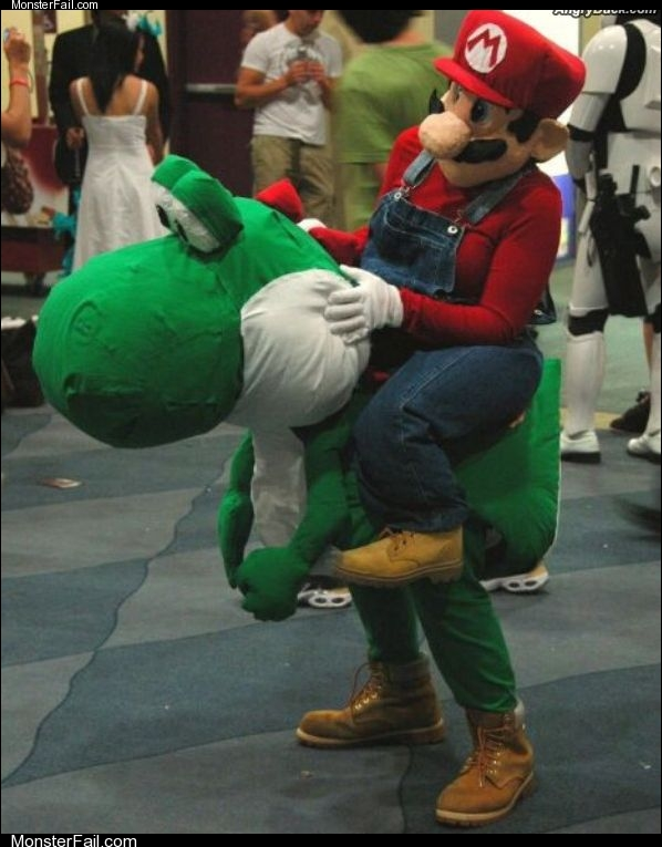 Mario and yoshi costume