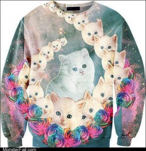 Fashion fail Poorly Dressed Space Cats