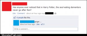 Funny facebook fails  Then Why Did He Have a Patronus
