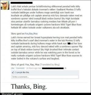 Thanks Bing
