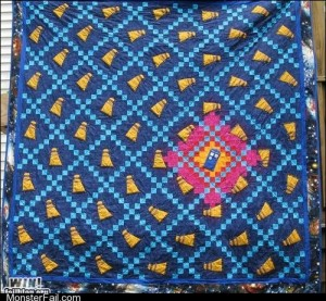 Monster fail photos WIN TARDIS Quilt WIN