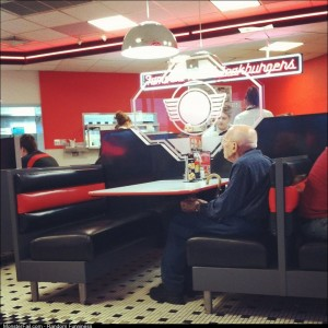 He went to Steak n Shake with his wife every year for valentine's day since before he was married