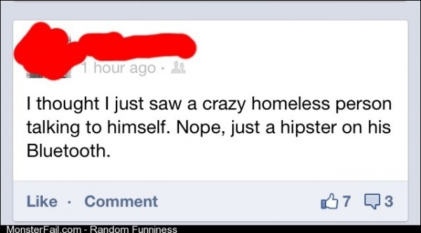 Crazy homeless person?