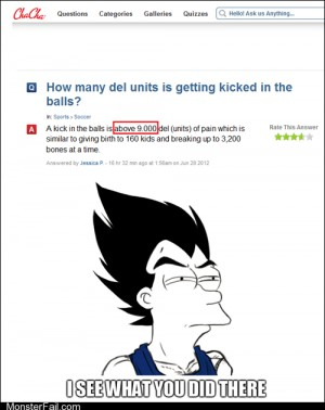 Vegeta is not amused