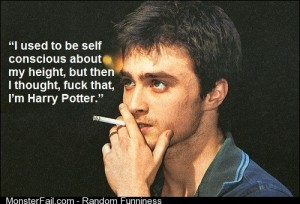 Daniel Radcliffe on self confidence