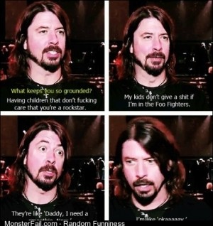David Grohl on being grounded