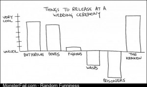 Things to release at a wedding ceremony