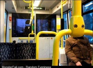 A friend on facebook took this photo in the tram today