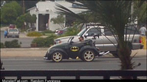 Even Batman has to downsize in this economy!