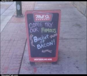 Bucket of bacon