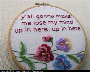 Needlework to make grandma proud