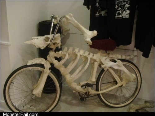 White trash repairs  The Bonecycle