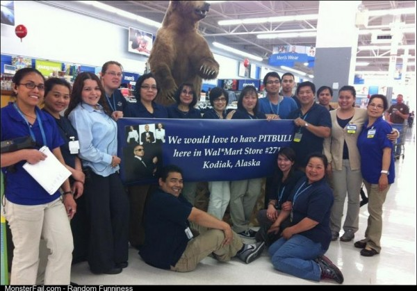 The Kodiak Walmart responds to the Internet and Pitbull alike!