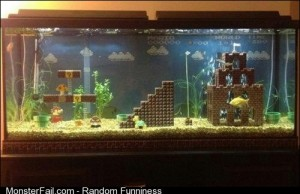 I see you Sponge Bob Aquarium and raise you a Super Mario Brothers Aquarium