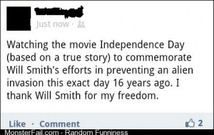 Will Smith gave us Independence Day