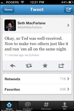 At least Seth MacFarlane has some selfawareness