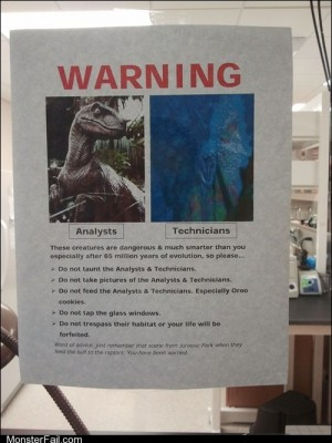 Job fails A Little Jurassic Snark for You