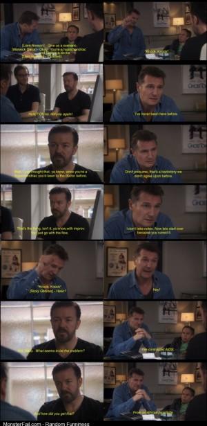 Liam Neeson takes a stab at improv