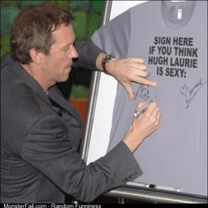 Hugh Laurie being Hugh Laurie