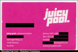 Got this business card recently I think they need to rethink their logo a bit