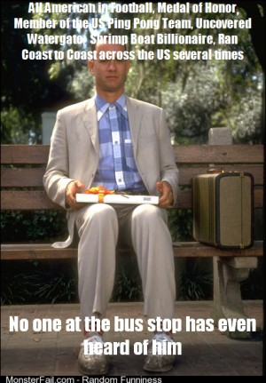 Something that has always bothered me about Forrest Gump