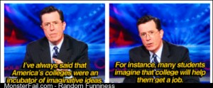 Colbert on Colleges