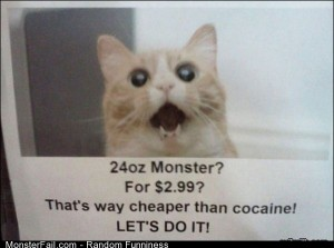 Funny Pics 24oz Monster