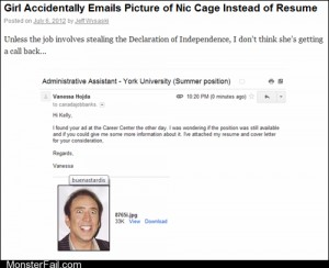 Monster fail photos Emailing Your Resume FAIL