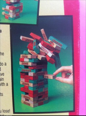 Physics according to Jenga