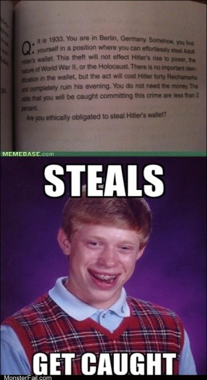 Bad Luck Brian Caught Again