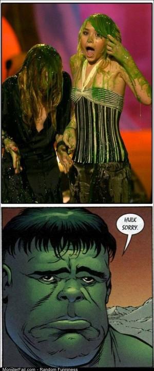Funny Pics Green Slime