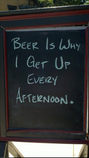 Sign in front of my local watering hole