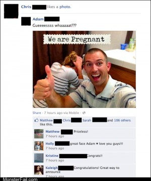 Funny facebook fails We Are Pregnant