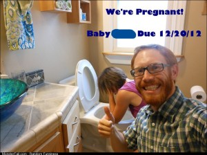 How some friends announced their pregnancy