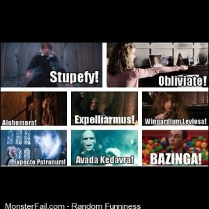 Harrypotter funnypictures funnypics bazinga bigbangtheory s Two of my most favorite things on Earth
