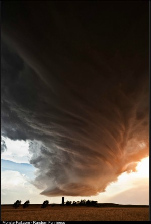 Monster Supercell Thunderstorm clouds in Kansas from photographer Camille Seaman