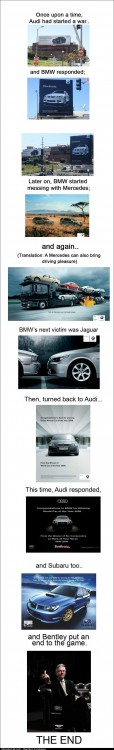 Once upon a time Audi started a war with BMW