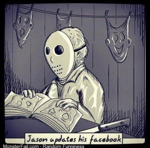Jason updates his facebook