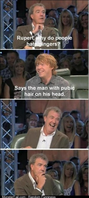 Rupert why do people hate gingers