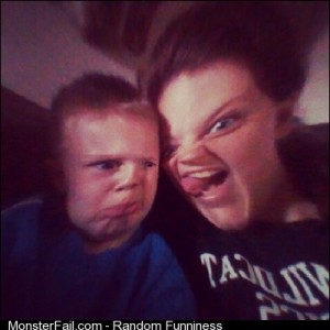 Jack and I being our unattractive as usual family nephew enjoythelittlethings funnypics funny pictures